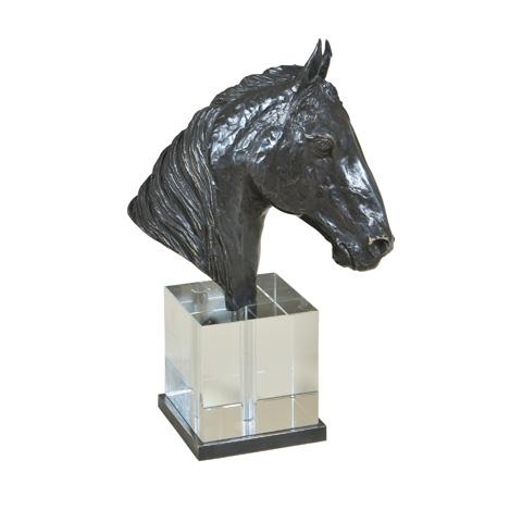 Maitland-Smith - Ebony Bronze Cast Brass Horse Head - 1054-219