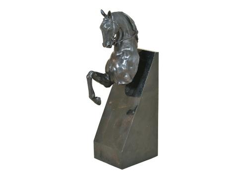 Maitland-Smith - Ebony Bronze Cast Brass Horse - 1054-220