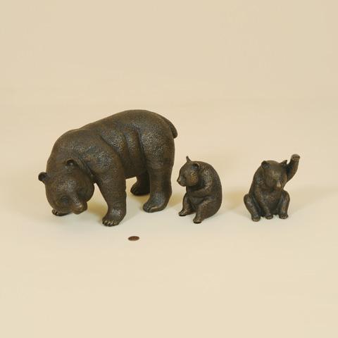 Maitland-Smith - Set of Three Cast Brass Pandas - 1054-290