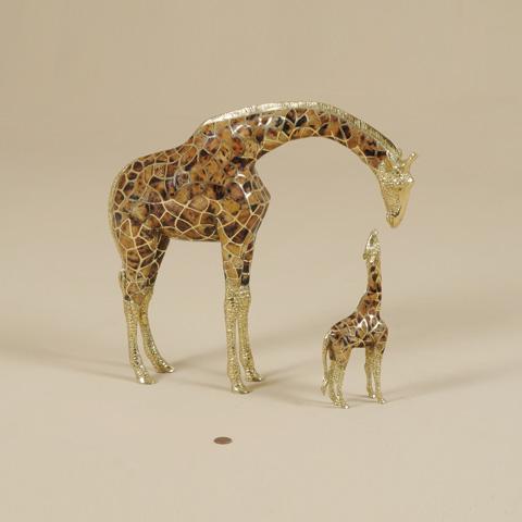 Maitland-Smith - Set of Two Cast Brass Giraffes - 1054-311