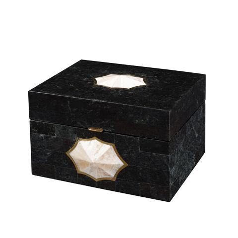 Maitland-Smith - Black Waxstone Inlaid Box - 1100-574