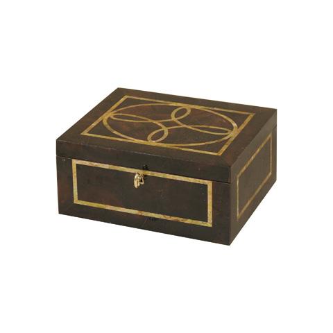 Maitland-Smith - Brown Penshell Inlaid Box - 1100-580