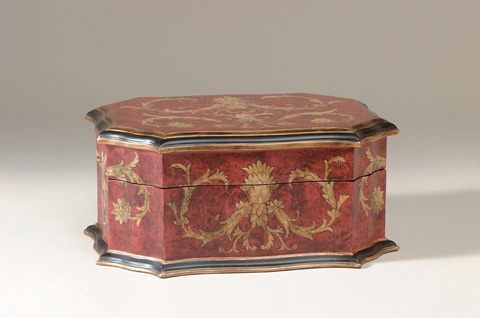 Maitland-Smith - Red and Gold Decorative Box - 1143-341