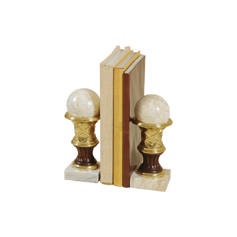 Maitland-Smith - Pair of Marble Bookends - 1200-328