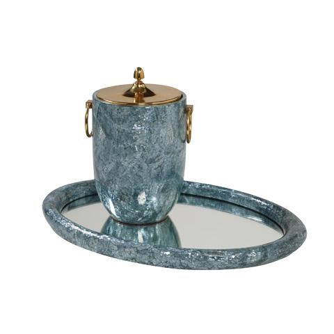 Maitland-Smith - Blue Ice Bucket and Tray - 1220-383