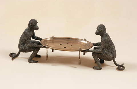 Maitland-Smith - Brass Monkeys Soap Dish - 1253-470