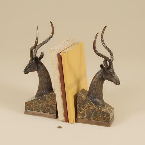 Maitland-Smith - Cast Brass Impala Bookends - 1254-351