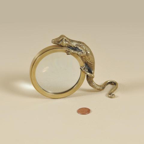 Maitland-Smith - Cast Brass Lizard Magnifying Glass - 1258-049