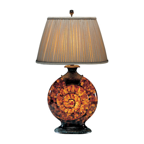 Maitland-Smith - Penshell and Brass Snail Lamp - 1700-013