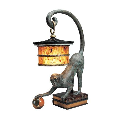 Maitland-Smith - Verdigris Bronze Monkey Lamp - 1753-570