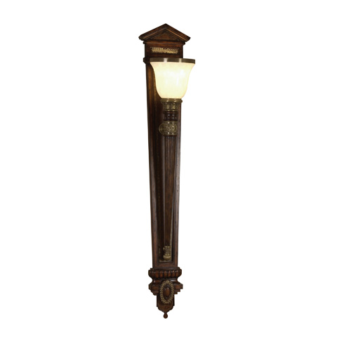 Maitland-Smith - Chocolate Leather Wall Torchere - 1930-114