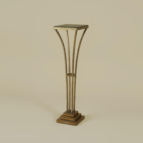 Maitland-Smith - Textured Gold Iron Pedestal - 2251-517
