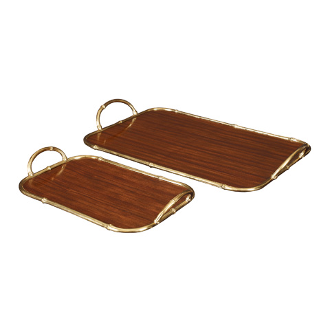 Maitland-Smith - Set of Two Rosewood Trays - 2530-169