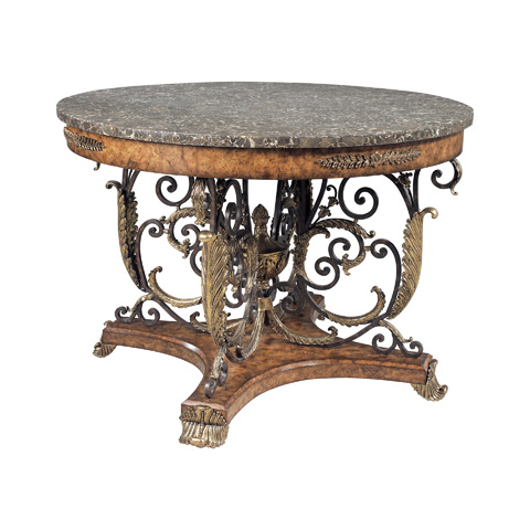 Maitland-Smith - Sherwood Brass and Ash Center Table - 3000-053