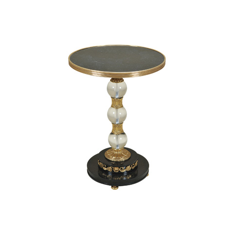 Maitland-Smith - Amber Brass and Glass Sphere Table - 3054-113