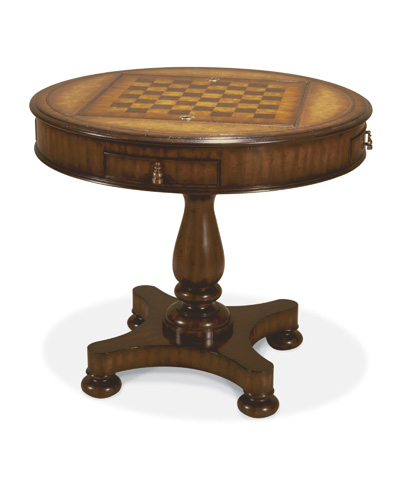 Maitland-Smith - Aged Regency Round Gameboard Table - 3130-108