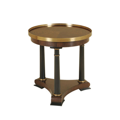 Maitland-Smith - Webster Walnut and Matte Black Occasional Table - 3630-075