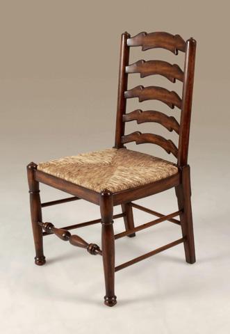 Maitland-Smith - Mahogany Ladderback Side Chair - 4030-559