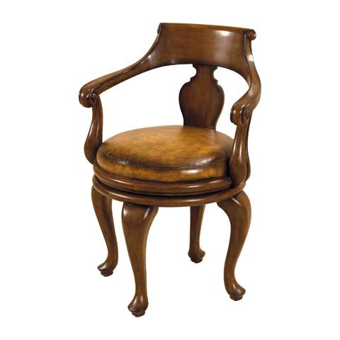 Maitland-Smith - Warm Walnut Swivel Game Chair - 4330-752