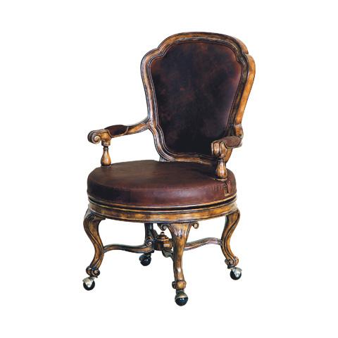 Maitland-Smith - Dark Wellington Cottage Swivel Game Chair - 4330-819