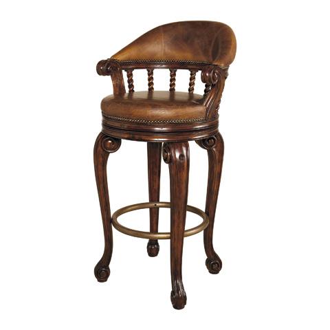 Maitland-Smith - Dark Antique Lido Mahogany Counter Stool - 4430-226