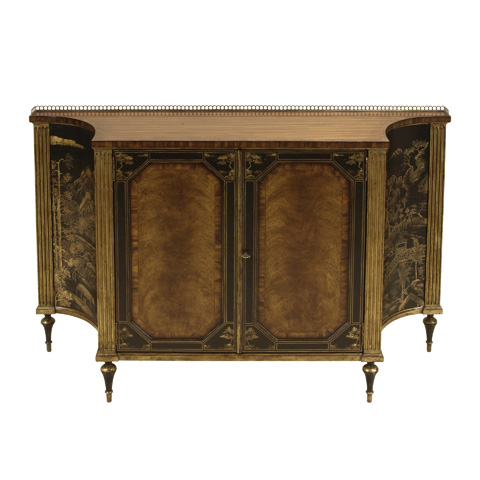 Maitland-Smith - Rosewood Chiffonier with Antique Gold Gilding - 5143-239