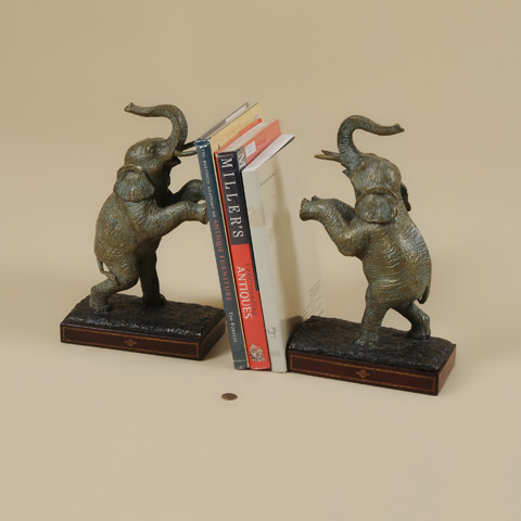 Maitland-Smith - Pair of Cast Brass Elephant Bookends - 1254-354