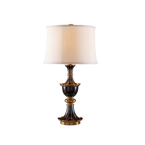 Maitland-Smith - Black Waxstone Inlaid Table Lamp - 1700-427