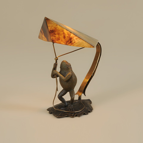 Maitland-Smith - Cast Brass Decorative Frog Lamp - 1754-879
