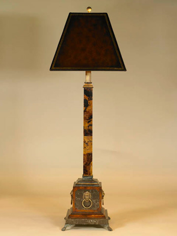 Maitland-Smith - Penshell Inlaid Candlestick Lamp - 1758-286
