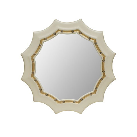 Maitland-Smith - Creme Lacquer Finished Mirror - 2843-481