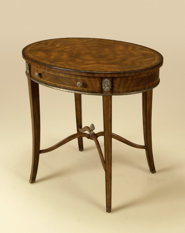 Maitland-Smith - Aged Mahogany Oval Occasional Table - 3230-720