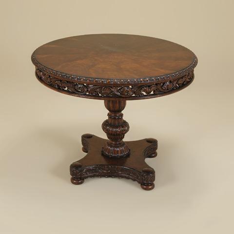 Maitland-Smith - Carved Catalan Finished Round Occasional Table - 3630-089