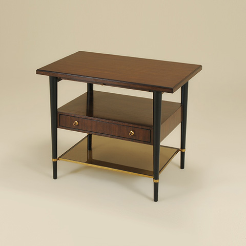 Maitland-Smith - Three Tiered Occasional Table with Glass Shelf - 3630-080