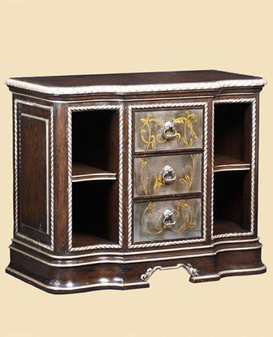 Marge Carson - Three Drawer Nightstand - PSM12-1