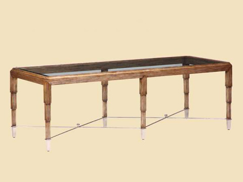 Marge Carson - Rectangular Cocktail Table - BOS01