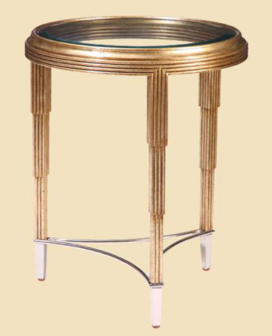 Marge Carson - Round Chairside Table - BOS30