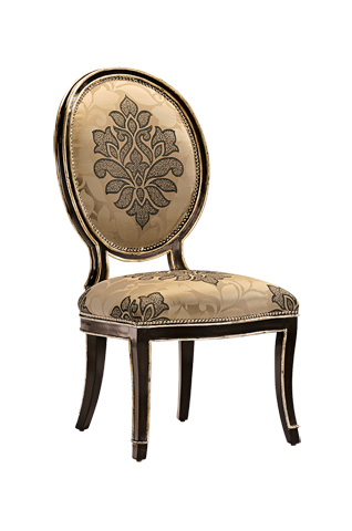 Marge Carson - Oval Back Side Chair - SBA45-5