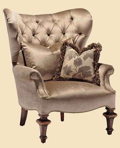 Marge Carson - Chandler Tufted Wing Chair - CHD41A