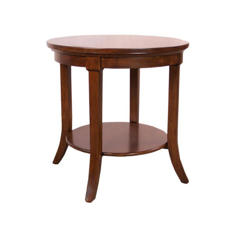 Maria Yee - Montecito Round End Table with Shelf - 220-106111