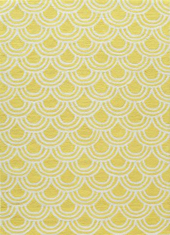 Momeni - Geo Rug in Yellow - GEO-15 YELLOW
