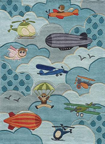 Momeni - Lil Mo Whimsy Rug in Sky - LMJ-10 AVIATOR SKY