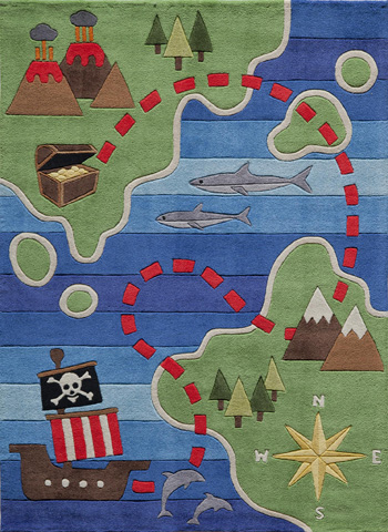 Momeni - Lil Mo Whimsy Rug in Multi - LMJ-25 PIRATE MULTI