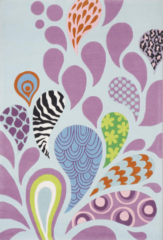 Momeni - Lil Mo Hipster Rug in Paisley - LMT-06 FUNKY PAISLEY FUNKY