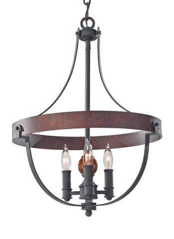Feiss - Three - Light Single Tier Chandelier - F2797/3AF/CBA