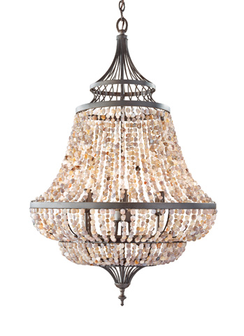Feiss - Six - Light Single Tier Chandelier - F2808/6RI
