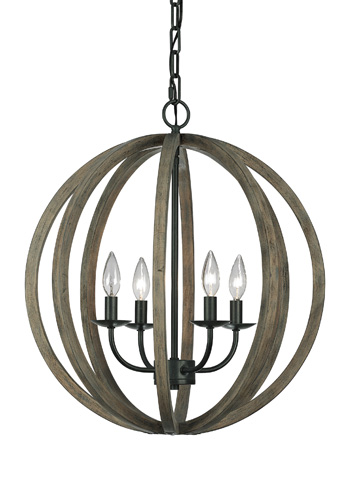 Feiss - Four - Light Pendant Fixture - F2935/4WOW/AF