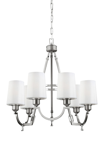 Feiss - Six - Light Chandelier - F3008/6SN/PN