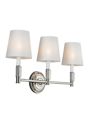 Feiss - Three - Light Lismore Vanity Strip - VS43003-PN