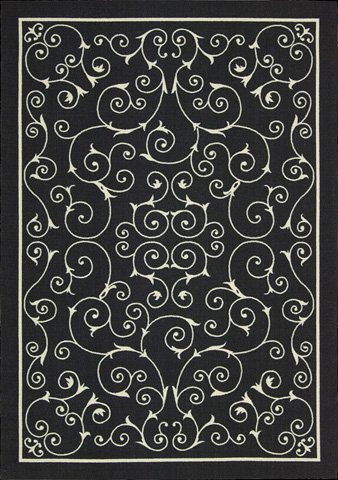 Nourison Industries, Inc. - Home and Garden Black Rectangular Rug - 99446112057